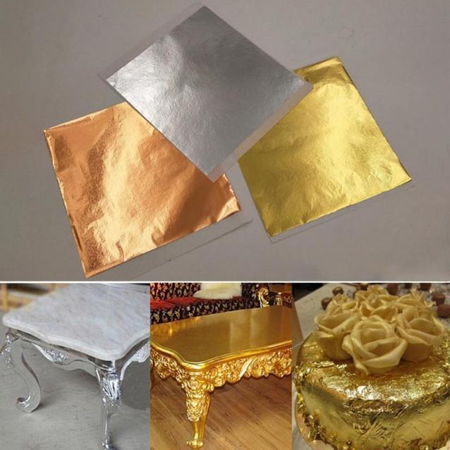 25 Φύλλα Χρυσού Imitation 14x14cm Kολλητό
