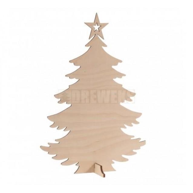 Ξύλινο Χριστουγεννιάτικο Δεντράκι 24X17cm