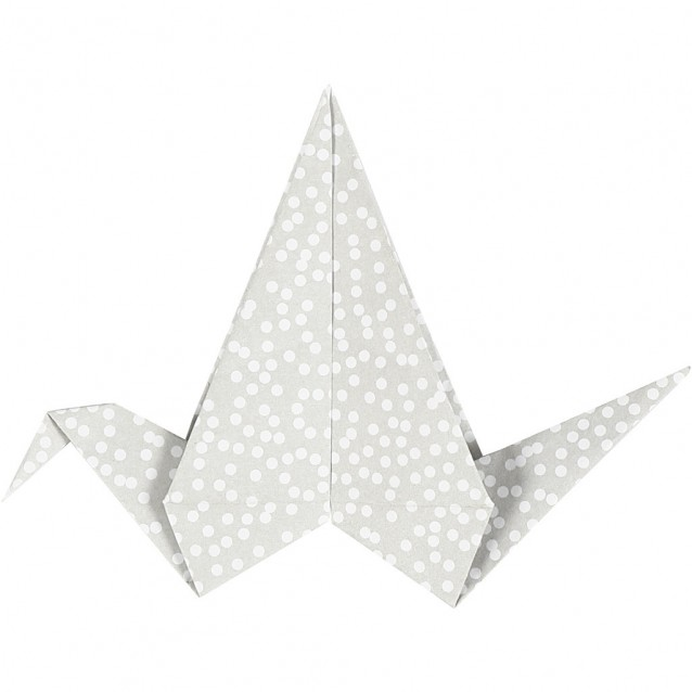 40 Χαρτιά Origami 15x15 cm, 80 gsm Green-Gray