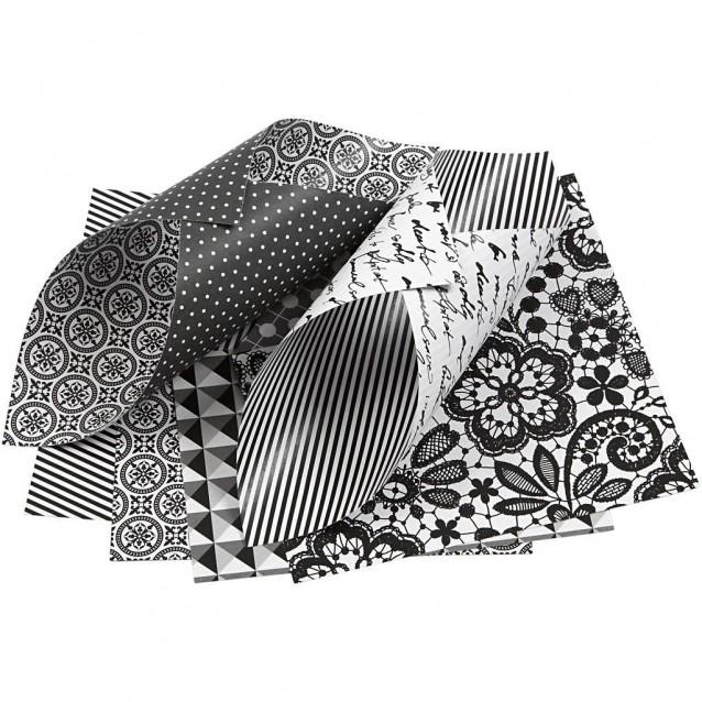 50 Χαρτιά Origami 15x15 cm, 80 gsm B&W