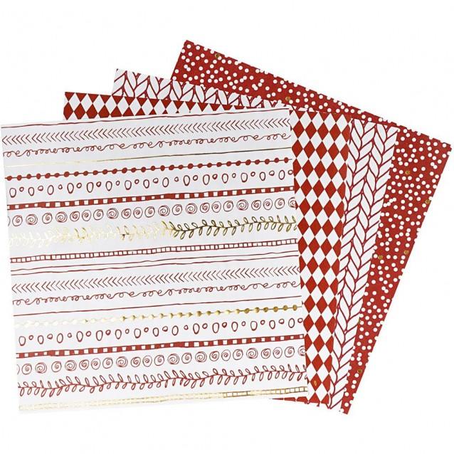40 Χαρτιά Origami 15x15 cm, 80 gsm Red