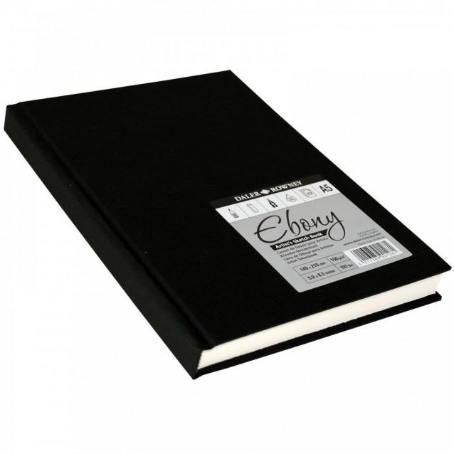 Daler Rowney Σκληρόδετο Sketchbook Ebony 62Φ Α5 150gr