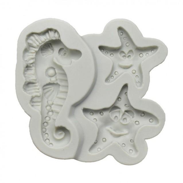Καλούπι Σιλικόνης 10x9,4x1,7cm Αστερίας/Ιπποκαμπος