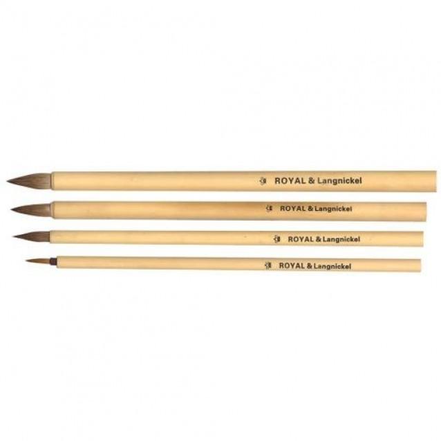 Royal & Langnickel 4 Πινέλα Bamboo Brown Hair