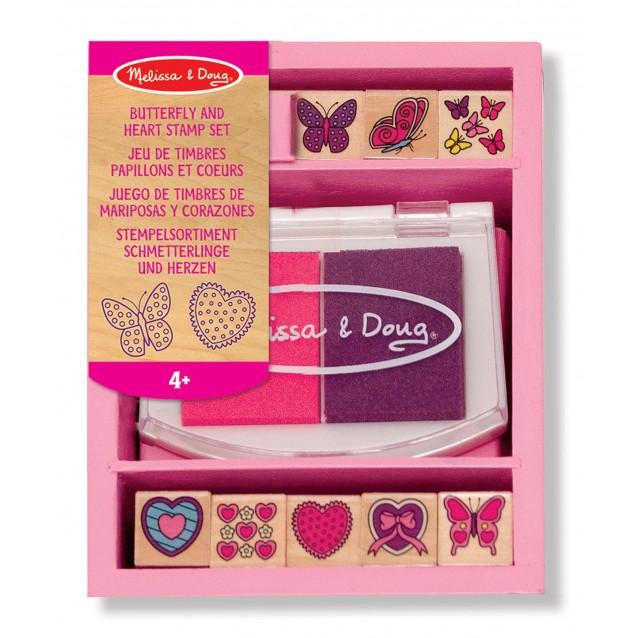 Melissa & Doug Σφραγίδες Πεταλούδες & Καρδιές 9 Τεμάχια