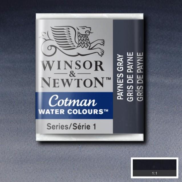 Winsor & Newton Half Pan Cotman 465 Paynes Gray