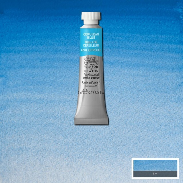 Winsor & Newton 5ml Professional Ακουαρέλα 137 Cerulean Blue Series 3