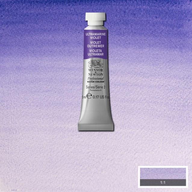 Winsor & Newton 5ml Professional Ακουαρέλα 672 Ultramarine Violet Series 2