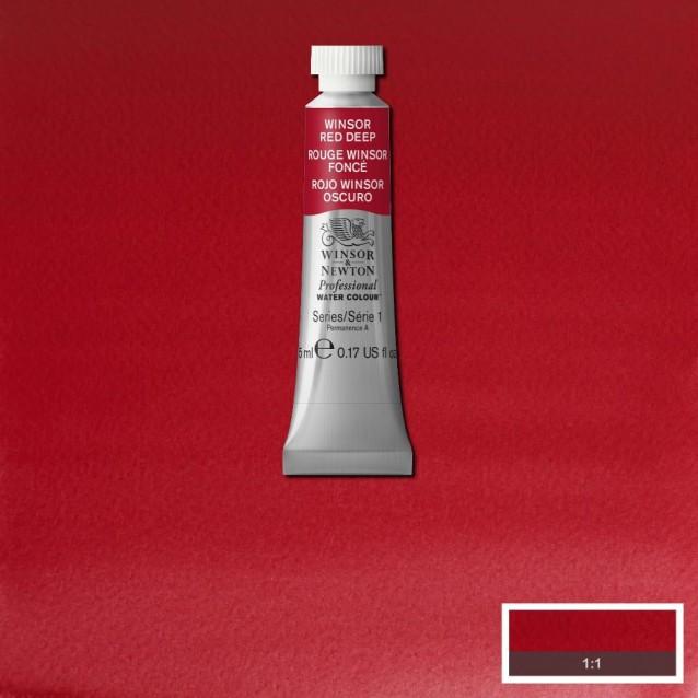 Winsor & Newton 5ml Professional Ακουαρέλα 725 Winsor Red Deep Series 1