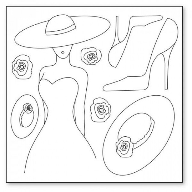 Stamperia Silhouette Art Napkin - Woman With Hat And Shoes