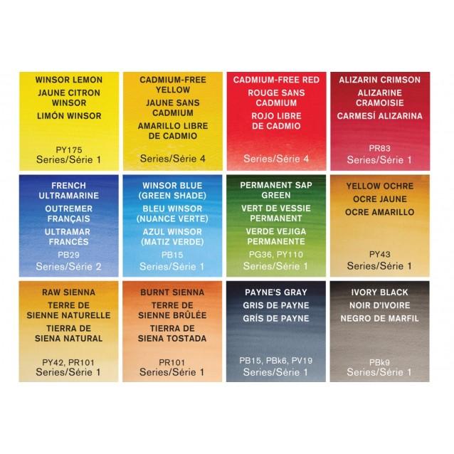 Winsor & Newton Profesional Watercolor Black Box Με 12 Half Pans