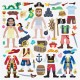 Melissa & Doug 50 Αυτοκόλλητα 3D Ντύσε τους Πειρατές