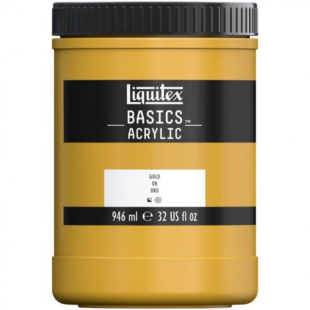 Liquitex Basics 946ml Acrylic 051 Bright Gold