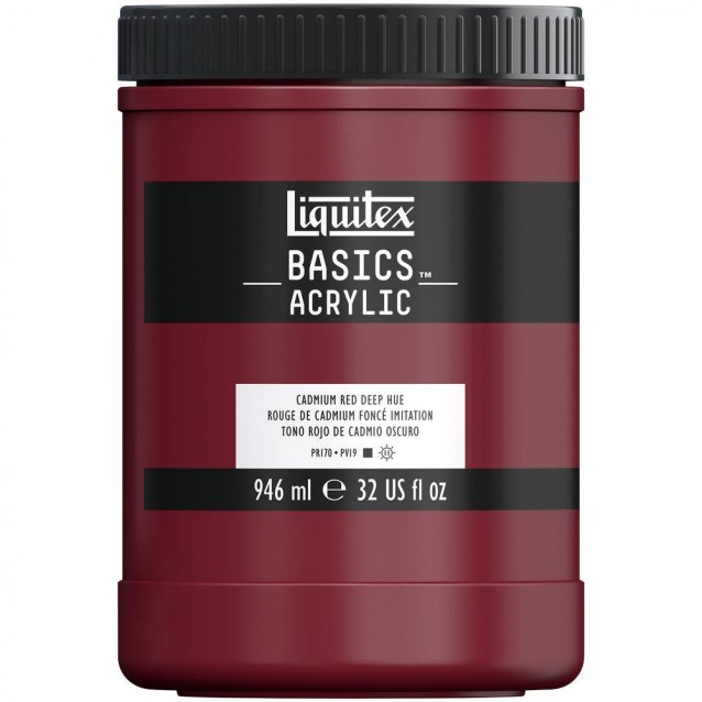 Liquitex Basics 946ml Acrylic 311 Cadmium Red Deep Hue
