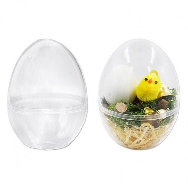 Διάφανο Πλαστικό Αποσπώμενο Αυγό 10cm Κάθετης Βάσης (Όρθιο)