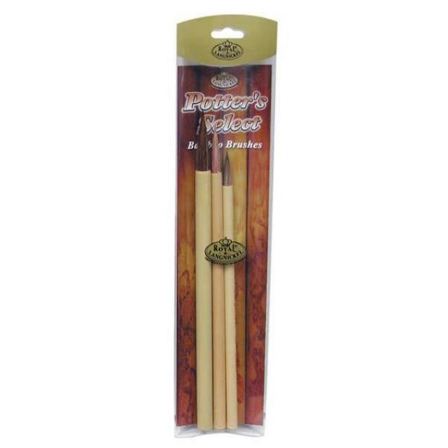 3 Πινέλα Κεραμικής Bamboo