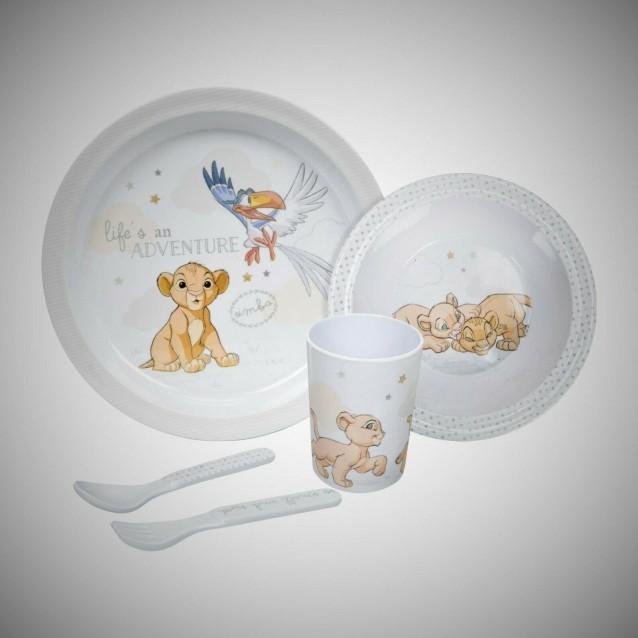 Disney Σετ Ταΐσματος Μωρού 5 τεμαχίων Simba
