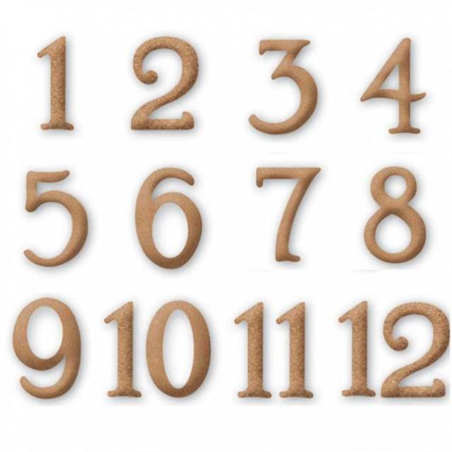 Stamperia 12 Αραβικά Νούμερα MDF 4,5cm