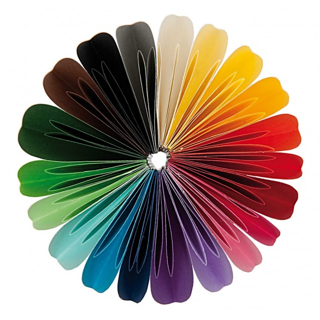 Rico Design 200 Στρογγυλά Χαρτάκια Οριγκάμι 10cm 80gr 20 χρώματα FSC