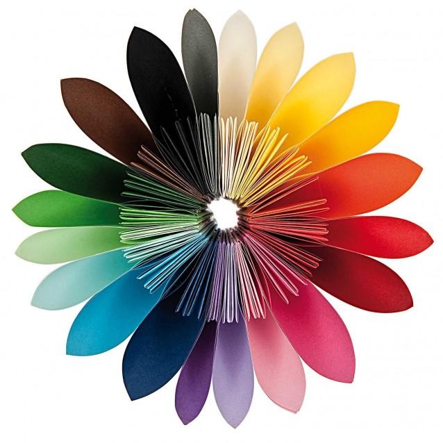 Rico Design 200 Χαρτάκια Οριγκάμι 15x15cm 80gr 20 χρώματα FSC