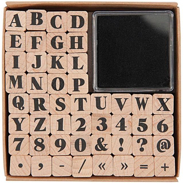 Rico Design 48 Σφραγίδες 1cm με Ταμπόν ABC και Αριθμοί