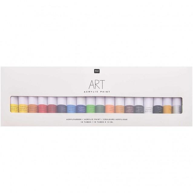 Rico Design 18 Ακρυλικά Χρώματα 12ml