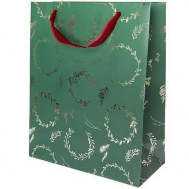 Rico Design Σακούλα Δώρου 26x32x12cm Στεφάνι Πράσινο FSC