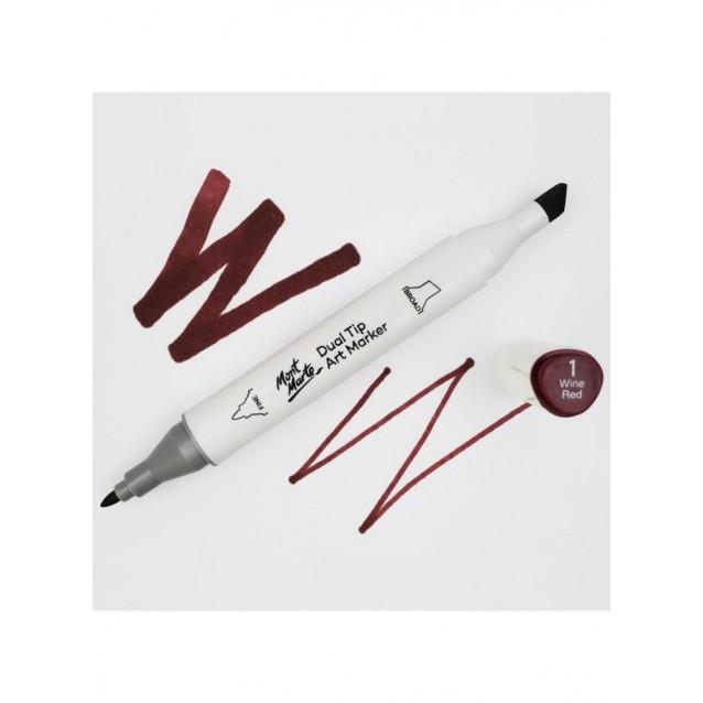 Mont Marte Art Marker Διπλής Μύτης 1 Wine Red